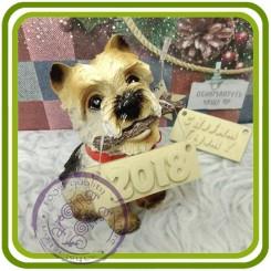 Вест Хайленд терьер ( с палкой), собака - 3D Объемная силиконовая форма для мыла, свечей, гипса, шоколада и пр.