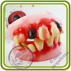 Зубы крвые - 3D Авторская силиконовая форма для мыла, свечей, гипса, шоколада и пр.