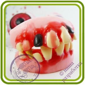 Зубы кривые (челюсть) - 3D Авторская силиконовая форма для мыла, свечей, гипса, шоколада и пр.