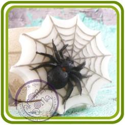 Паук на паутине - 2D силиконовая форма для мыла, свечей, шоколада, гипса и пр.