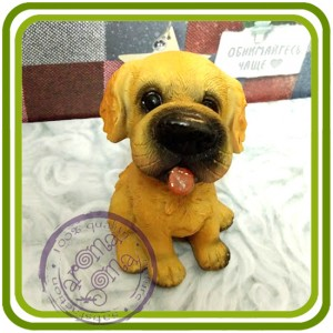 Щенок малый, собака 3 - 3D Объемная силиконовая форма для мыла, свечей, гипса, шоколада и пр.