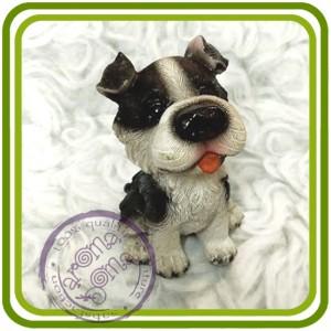 Щенок малый, собака 5 - 3D Объемная силиконовая форма для мыла, свечей, гипса, шоколада и пр.
