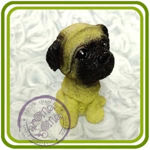 Щенок (мульт) малый, собака 5 - 3D Объемная силиконовая форма для мыла, свечей, гипса, шоколада и пр.