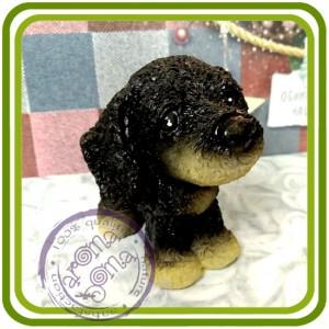 Щенок (мульт) малый, собака 7 - 3D Объемная силиконовая форма для мыла, свечей, гипса, шоколада и пр.