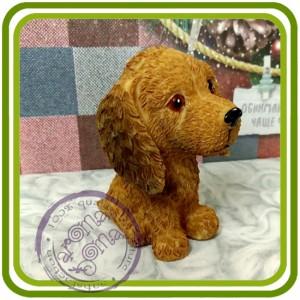 Щенок (мульт) малый, собака 8 - 3D Объемная силиконовая форма для мыла, свечей, гипса, шоколада и пр.