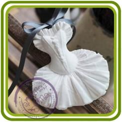 Балетная пачка - 2D силиконовая форма для мыла, свечей, шоколада, гипса и пр.