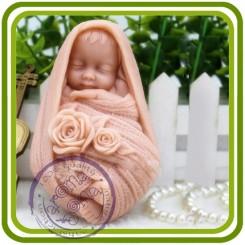 Малыш в шарфе - 3D Объемная силиконовая форма для мыла, свечей, гипса, шоколада и пр.