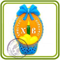Пасха, корзина ХВ, 2d - Эксклюзивная силиконовая форма для мыла, свечей, шоколада, гипса и пр.