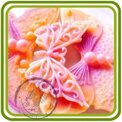 Бабочка Французский Ажур (serSF) - мини молд для декора