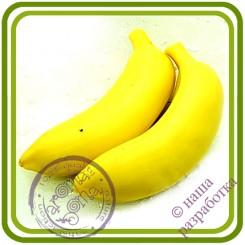 Банан (малый) НЕочищен.- 3D силиконовая форма для мыла, свечей, шоколада, гипса и пр.
