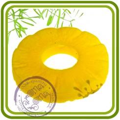 Долька ананаса (круглая) - 2D силиконовая форма для мыла, свечей, шоколада, гипса и пр.