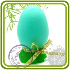 Яйцо на подставке - 3D силиконовая форма для мыла, свечей, шоколада, гипса и пр.
