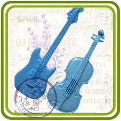 Гитара и скрипка - мини молд для декора