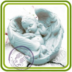 Малыш, младенец в крыльях ( 2 размера) - 3D силиконовая форма для мыла, свечей, шоколада, гипса и пр.