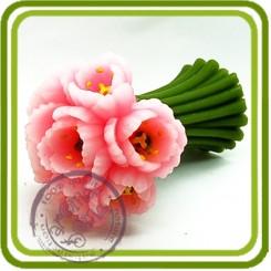 Букет тюльпанов 1 на стебеле (2 размера) - 3D силиконовая форма для мыла, свечей, шоколада, гипса и пр.