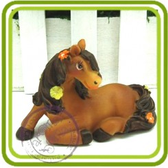 Ассоль лошадка - 3D силиконовая форма для мыла, свечей, шоколада и пр.