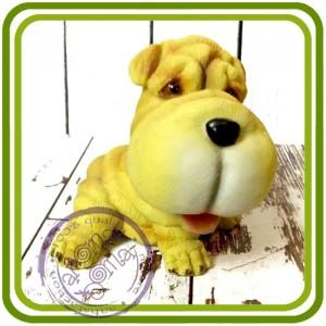 Шарпей сидит 2, собака - 3D Объемная силиконовая форма для мыла, свечей, гипса, шоколада и пр.
