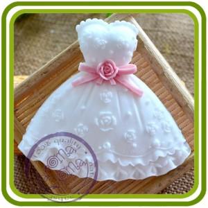Платье малое - 2D молд, силиконовая форма для мыла, свечей, гипса, шоколада и пр.