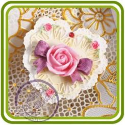 Сердце малое - 2D молд,силиконовая форма для мыла, свечей, гипса, шоколада и пр.