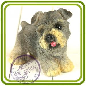 Щенок шнауцера, собака - 3D Объемная силиконовая форма для мыла, свечей, гипса, шоколада и пр.