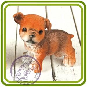 Щенок, собака стоит (рыжий) - 3D Объемная силиконовая форма для мыла, свечей, гипса, шоколада и пр.