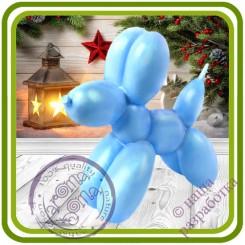 Cобака Шарик, Balloon Dog  - Авторская 2D силиконовая форма для мыла, свечей, шоколада, гипса и пр.
