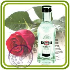 Бутылка Мартини - 3D Объемная силиконовая форма для мыла, свечей, гипса, шоколада и пр.