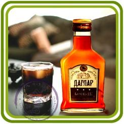 Бутылка коньяка 1- 3D силиконовая форма для мыла, свечей, шоколада, гипса и пр.