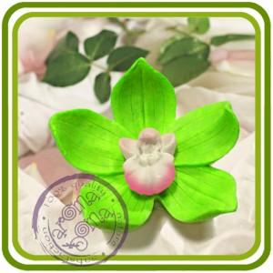 Орхидея 6 (м) - 3D Объемная силиконовая форма для мыла, свечей, гипса, шоколада и пр.