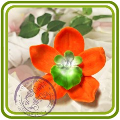 Орхидея 7 (ср) - 3D Объемная силиконовая форма для мыла, свечей, гипса, шоколада и пр.