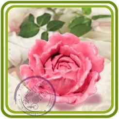 Пион, Роза (ср) - 3D Объемная силиконовая форма для мыла, свечей, гипса, шоколада и пр.