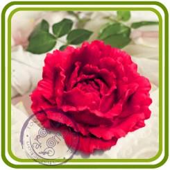 Пион, Роза (б) - 3D Объемная силиконовая форма для мыла, свечей, гипса, шоколада и пр.