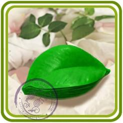Лист кофе, мандарина - 2D Объемная силиконовая форма для мыла, свечей, гипса, шоколада и пр.
