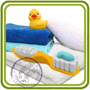 Зубная щетка - 3D Объемная силиконовая форма для мыла, свечей, гипса, шоколада и пр.