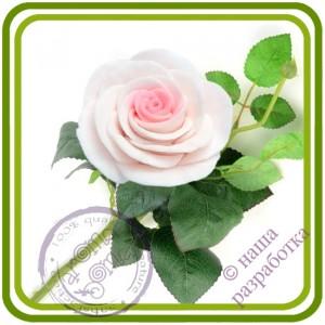 Роза 1 букетная большая - Авторская 3D силиконовая форма для мыла, свечей, шоколада, гипса и п