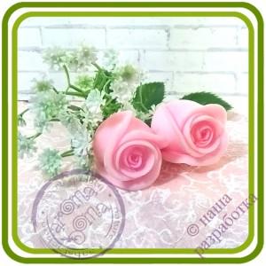 Розы БУТОН 5 букетный - 3D Авторская силиконовая форма для мыла, свечей, шоколада и пр.