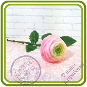 Ранункулюс 3 букетный малый - 3D Авторская силиконовая форма для мыла, свечей, шоколада и пр.