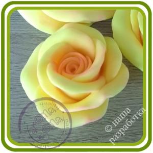 Роза букетная Кустовая 3 малая. Авторская 3D силиконовая форма для мыла, свечей, шоколада, гипса и пр.