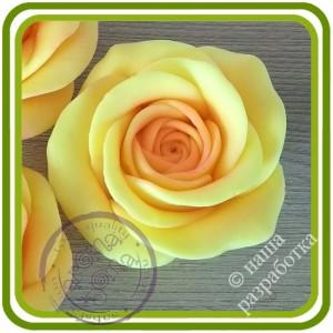 Роза букетная Кустовая 2 средняя. Авторская 3D силиконовая форма для мыла, свечей, шоколада, гипса и пр.