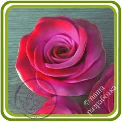 Роза букетная Кустовая 1 большая. Авторская 3D силиконовая форма для мыла, свечей, шоколада, гипса и пр.