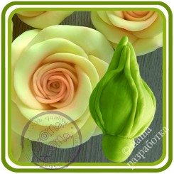 Розы бутон ЗАКРЫТЫЙ. Авторская 3D силиконовая форма для мыла, свечей, шоколада, гипса и пр.