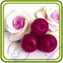 Вишня, Черешня Букетная КРУПНАЯ  (3 ягоды на ножке). Авторская 3D силиконовая форма для мыла, свечей, шоколада, гипса и пр.