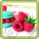 Малина Букетная КРУПНАЯ  (3 ягоды на ножке с хвостиком). Авторская 3D силиконовая форма для мыла, свечей, шоколада, гипса и пр.