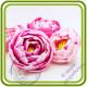 Пион 10 букетный. Авторская 3D силиконовая форма для мыла, свечей, шоколада, гипса и пр.