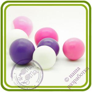 Жемчужина букетная БОЛЬШАЯ (1 шарик на ножке). Авторская 3D силиконовая форма для мыла, свечей, шоколада, гипса и пр.