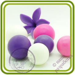 Жемчужина букетная СРЕДНЯЯ (1 шарик на ножке). Авторская 3D силиконовая форма для мыла, свечей, шоколада, гипса и пр.