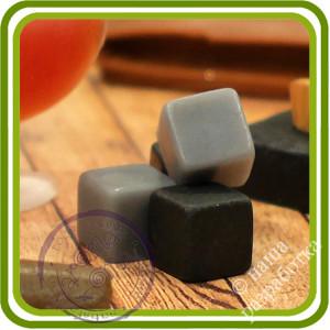 Камни для виски (6 ячеек). Авторская 2D силиконовая форма для мыла, свечей, шоколада, гипса и пр.