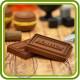Шоколад Роше (1 надпись). Авторская 2D силиконовая форма для мыла, свечей, шоколада, гипса и пр.