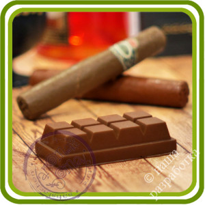 Шоколад Choco. Авторская 2D силиконовая форма для мыла, свечей, шоколада, гипса и пр.