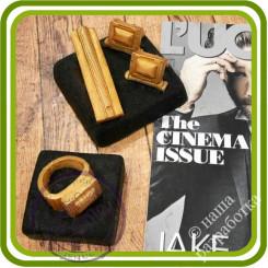 Запонки и Прищепка на подиуме - Авторская 3D силиконовая форма для мыла, свечей, шоколада, гипса и пр.